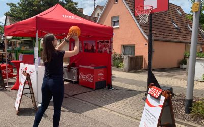 Spendenaktion mit Coca-Cola